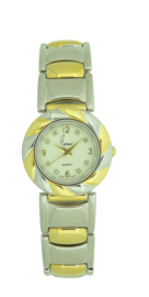 Cetronic dames horloge bi color 1