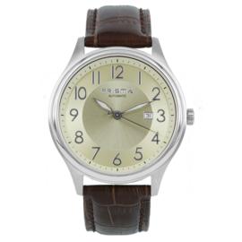 Prisma heren horloge automatic beige bruin P.2629