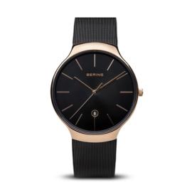 Bering horloge classic polished roségoud zwart 13338-262