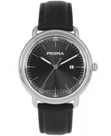 Prisma Retro Heren horloge Dome Mark Zwart P.1911