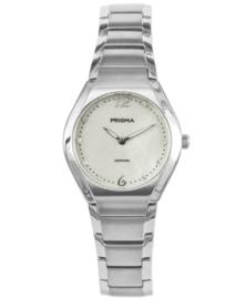 Prisma Dames Horloge Simplicity Titanium Wit. P.1675