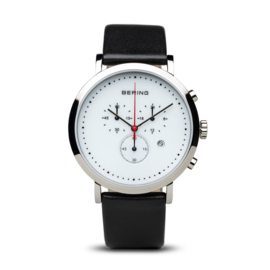 Bering horloge classic polished zilver wit 10540-404