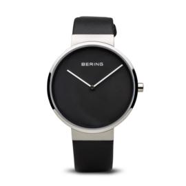 Bering horloge classic brushed zwart zilver 14539-402