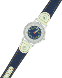 Prisma Kinderhorloge blauw compas