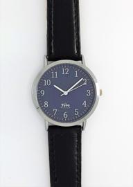 Tyno zilver Blauw 301-002 zwart