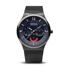 Bering horloge ceramic blauw rood 33440-227