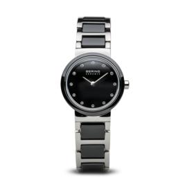 Bering horloge ceramic Zwart zilver 10725-742