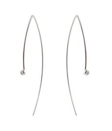 Gerhodineerd zilveren hook hangoorbellen zirkonia