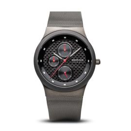 Bering horloge ceramic Zwart rood 32139-309