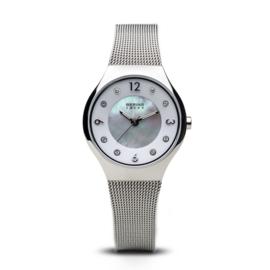 Bering horloge Solar Zilver Wit 14427-004