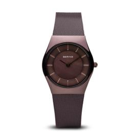 Bering horloge polished bruin 11930-105