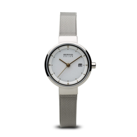 Bering horloge solar Zilver wit 14426-001