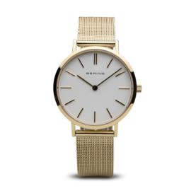Bering horloge classic polished goud 14134-331