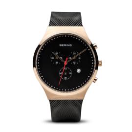 Bering horloge classic polished roségold black 14740-166