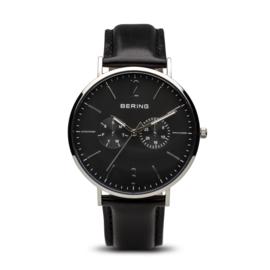 Bering horloge classic polished zilver zwart 14240-402