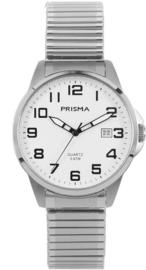 Prisma Heren horloge Classic Steel Rekband Zilver/wit P.1480