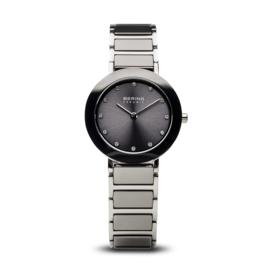 Bering horloge ceramic Grijs Zilver 11429-783