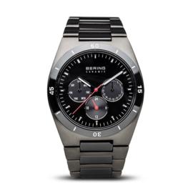 Bering horloge ceramic Zwart rood 32341-792