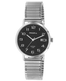 Prisma Heren horloge Regant Belief Zilver/Zwart Rekband P.1752