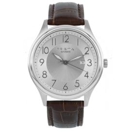 Prisma Heren horloge Automatic bruin zilver P.2627