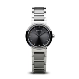 Bering horloge ceramic Grijs Zilver 10725-783