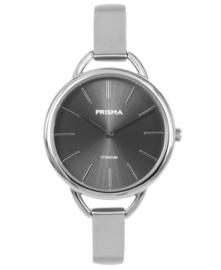 Prisma Dames horloge simplicity Titanium zwart P.1479