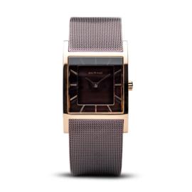 Bering horloge classic polished rosé goud bruin 10426-265-S