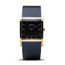 Bering horloge classic polished rosé goud blauw 10426-367-S