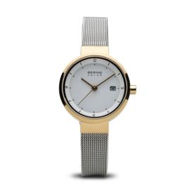 Bering horloge solar Goud zilver 14426-010
