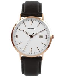 Prisma uniseks horloge Slimline Mr. rosegoud  P.1500