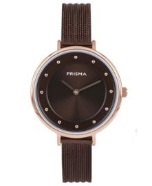 Prisma Dames horloge Pure Fance Bruin P.1875