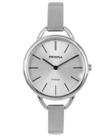 Prisma dames horloge Simplicity titanium zilver P.1478