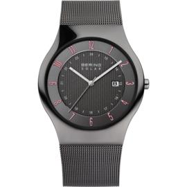 Bering horloge solar keramiek zwart rood 14640-077