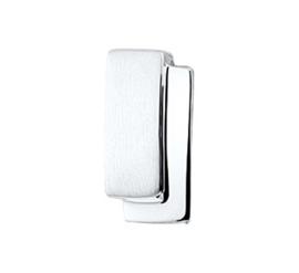Zilveren hanger Mat en glans