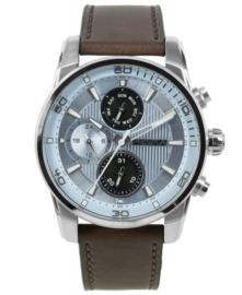 Prisma Heren horloge Traveller time lichtblauw P.1593