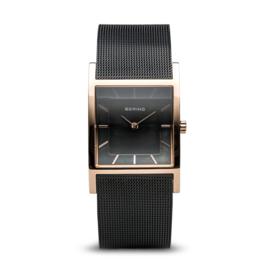 Bering horloge classic polished roségoud zwart 10426-166-S