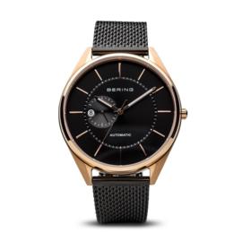 Bering horloge Automatic Roségoud zwart 16243-166