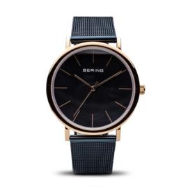 Bering horloge classic polished roségold bleu 13436-367
