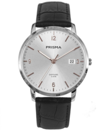 Prisma Uniseks Horloge Slimline Sun Ray Zilver P.1647