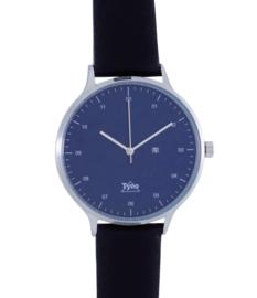 Tyno classic zilver blauw 201-003 zwart