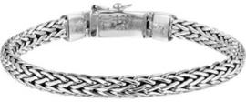 Massief zilveren palmier armband 7mm 22cm