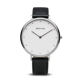 Bering horloge classic polished zilver wit 14839-404