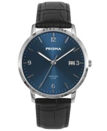 Prisma Uniseks Horloge Slimline Sun ray Blauw saffier P.1645