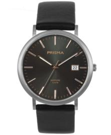 Prisma uniseks horloge slimline Titanium Rosé goud P.1668