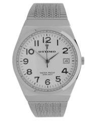 Ottimo Horloge zilver wit milanees OR018G-D