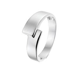 Zilveren ring Mat en glans