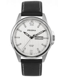 Prisma Heren Horloge Pattern Leather Wit P.1660