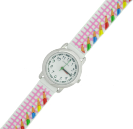 Prisma kinderhorloge Meisjes gekleurd potloden