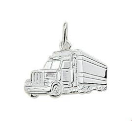 Zilveren hanger vrachtwagen amerikaanse truck
