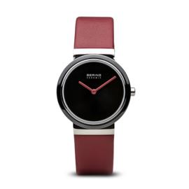 Bering horloge ceramic Zwart rood 10729-642